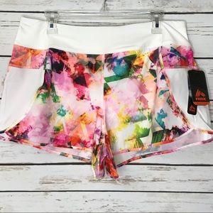 RBX Active Watercolor Multicolor Shorts Size L